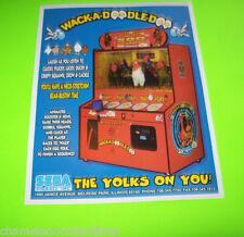 WACK-A-DOODLE-DOO + TITANIC By SEGA ORIGINAL REDEMPTION ARCADE GAME SALES FLYER