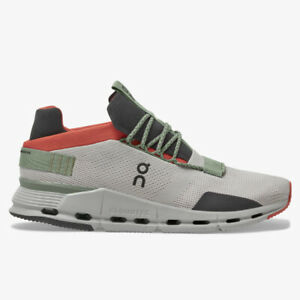 On Cloudnova Silver Orange Men's Active Life Shoes Brand New
