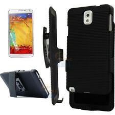 Belt Clip Rugged Skin Case Cover Holster For Samsung Galaxy Note 3 III N9005