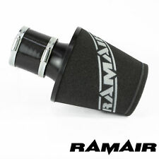 RAMAIR BLACK ALUMINIUM INDUCTION AIR FILTER UNIVERSAL WITH 80mm ID COUPLING