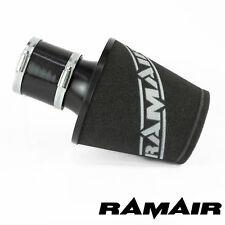 RAMAIR Aluminio Negro Inducción Aire Filtro Universal Con 80Mm Id Acoplamiento