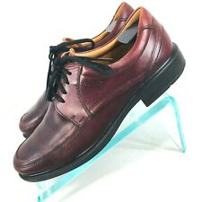 f357124b0ad Ecco Oxford Shoes Mens Size 10 10.5 Eu 44 Brown   Red Lace Up OFR
