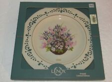 """Lenox Colonial Bouquet Plate Massachusetts 1996 The Second Colony 10.75"""" dia"""