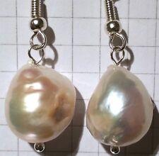 Splendido! 925 Silver Orecchini di perle naturali, alta LASTRE. (PE2)