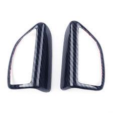 2X Carbon fiber color Door Speaker Audio Cover Trim For Ford Focus MK3 12-18 new