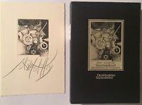 Albert Ali Schindehütte 2x signiert Grafik Buch Unterschrift Signatur Autogramm