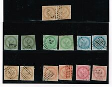 French Colonies 1859-65 Eagle & Crown 1st Issue #1-6 incl'd a pr of 10c, 2 of ea