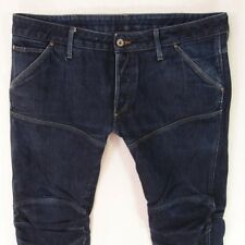 Mens G-Star 5620 3D LOW TAPERED Combat Style Blue Jeans W36 L30