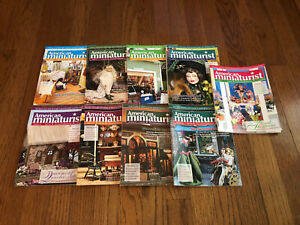 American Miniaturist Magazine Lot (9) Issues From 2010