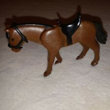 PLAYMOBIL Horse Modern Brown Black Mane Tail w/ Saddle toy movable