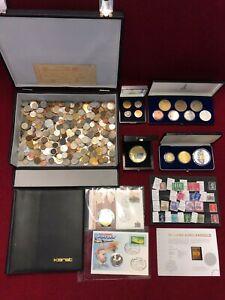 Münzen Münzkoffer Medaillen Lot Silber Sammlung Briefmarken Münzbuch Konvolut