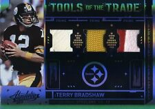 TERRY BRADSHAW ( 5-COLOR) RARE (TRIPLE) PRIME JERSEY CARD #16/50 STEELERS HOF QB