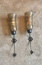 PAIR XL HOME DECOR WALL SCONCE CANDLE HOLDERS