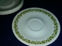 7-Vintage Corning Corelle Crazy Daisy Spring Blossom Dishes Saucers Plates EUC