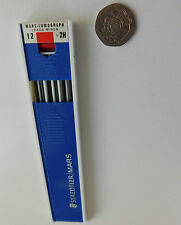 Staedtler Mars Technico pencil drawing leads Lumograph 2H part used box Germany