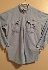 EUC>>Men's Shirt>>Columbia>>Size L Tall>>Vented>>Adjustable Sleeve>>Button Down