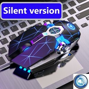 USB Wired Computer Gaming Mouse 3200 DPI RGB LED Light For Desktop Laptop PC US