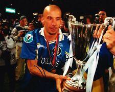 Gianluca Vialli Signed 10X8 Chelsea FC Photo AFTAL COA (1160)