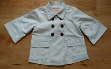 New WO Tags Girls Old Navy Jacket Trench Coat Beige Large 10/12 Tortoise Buttons