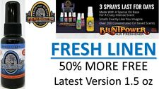 3X BluntPower 100% Concentrated Oil Based Air Fresheners Blunt Power FRESH LINEN
