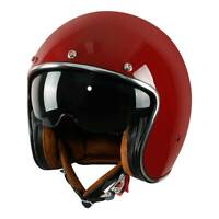 Motorcycle Open Face 3/4 Helmet DOT Retro Vintage Scooter Classical M L XL XXL