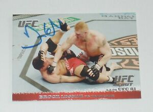 FRANK MIR SIGNED AUTO'D 2009 UFC TOPPS ROUND 1 RC CARD #81 BROCK LESNAR CHAMP