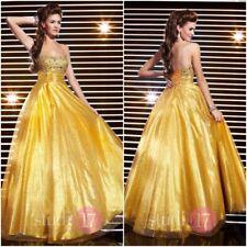 GOLD STUDIO17 BALLGOWN FORMAL PROM PAGEANT DRESS #12312 NWT SZ18 PROM SALE!!!