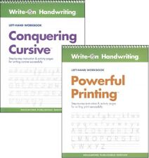 Handwriting Set -  Powerful Printing & Conquering Cursive Left-Hand NEW