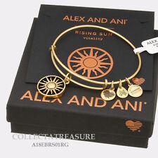 Authentic Alex and Ani Rising Sun Rafaelian Gold Expandable Charm Bangle