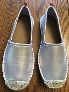 Sea Star Beachwear Beachcomber Espadrille Gold Fabric Shoes Women's Size 8