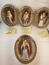Lot of four Bradford Exchange Light of Heaven Mary Mother Collectors Wall Plates