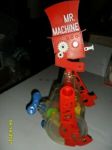1977 Vintage  Ideal Mr. Machine Windup Rolling Robot - Works Well