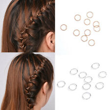 10pcs Women Girl Fashion Braid Gold Silver Ring Hair Clip Pin Accessory DIY Gift