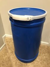 15 gallon plastic drum with lid -Emergency Food Storage