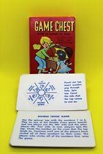 Vintage Game Chest Pocket Travel Card Game 1950's