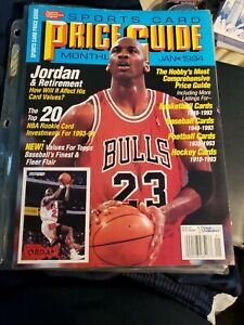 January 1994 Sports Card Price Guide Monthly Michael Jordan Bulls with CARDS!!