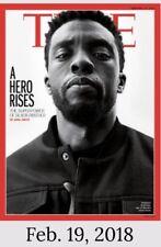 New Sealed TIME MAGAZINE - BLACK PANTHER, Chadwick Boseman,Feb 19 2018,Dust Jac