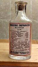 Vintage Medicine Hand Crafted Bottle, Nervine Elixir w/Cannabis & Belladonna