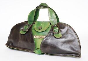 Vintage 1970s Tote Bag - Don Pablo de Compostella - Black / Green - Large