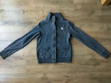Abercrombie & Fitch Women's Grey Button Up Jacket Top - Size Medium