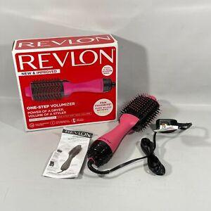 Revlon One Step Pink Hair Dryer Volumizer Max Drying Power Brush RVDR5222PNK
