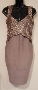 Ladies size 12 Sequined Body Con Dress - Fresh Soul Luxe Collection