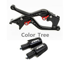 Black CNC Short Brake Clutch Lever&Handle Bar Ends For Honda CBR600 F4/F4i 99-06