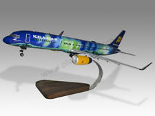 Boeing 757-200 Icelandair Aurora Borealis Gear Down Mahogany Wood Desktop Model
