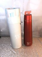 55° Red Insulated Water Bottle Vacuum Sealed Stainless Steel Hydration Flask