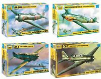 ZVEZDA Soviet/ German Military Aircrafts WWII Plastic Model Kits 1:48 Unpainted