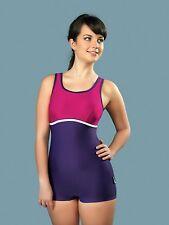Badeanzug mit Bein von gWinner Modell Maryla in der Farbe violett, Größe 48