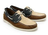 New TIMBERLAND 6502R 2-EYE TRI TONE BOAT  men's leather SHOES   sz 10.5 ($135)