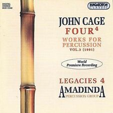JOHN CAGE/AMANDINA PERCUSSION Works For Percussion Vol. 3 Four CD NEW classical