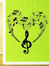 Wall Stickers Vinyl Decal Heart Notes Music Positive For Living Room (z1609)